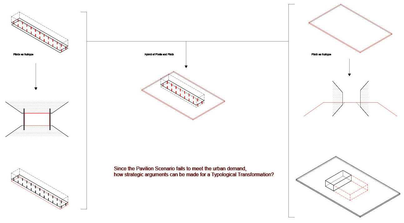 3_Subtypes from Pavilion Scenario-Pilotis & Plinth