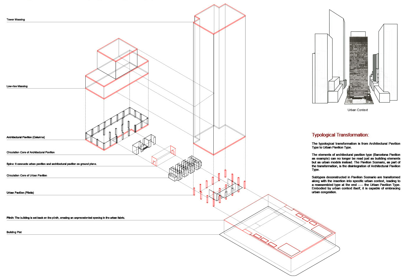 5_Urban Pavilion Type-Reassembled Elements(Seagram Building as example)