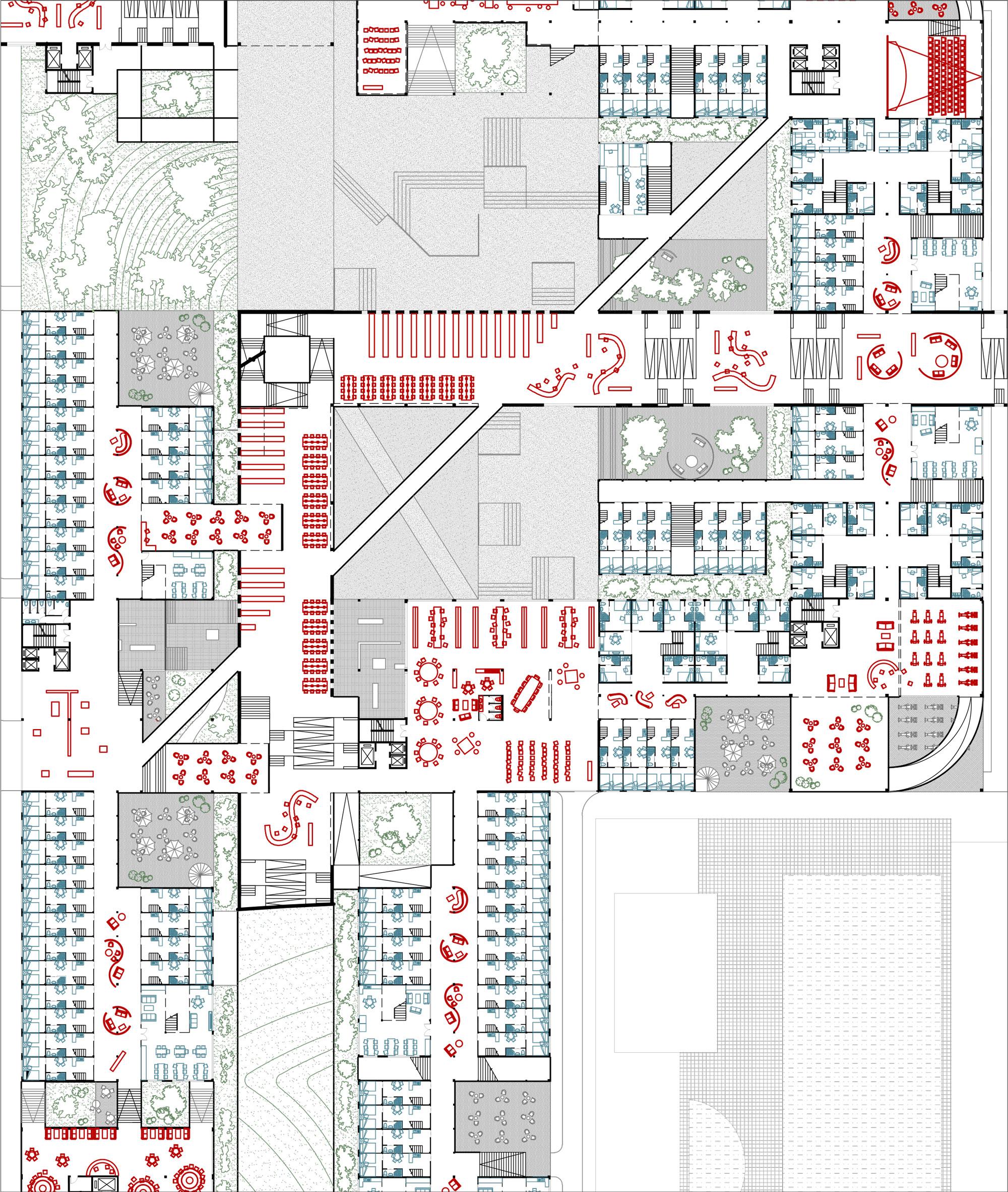 Rethinking The Urban Block Educational Infrastructure In Shenzhen Description Schematic Diagram Examplejpg Third Floor Plan