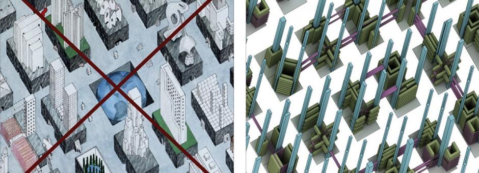 NYC and Tokyo urban block